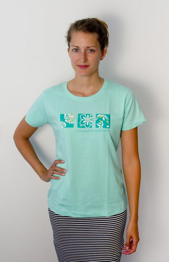 Dámské tričko - outdoor kytka -Světle zelená b966022399