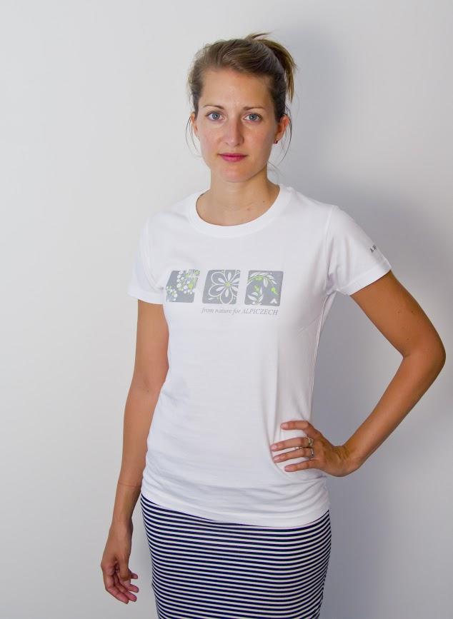 b0e6ed0278a7 Dámské tričko - outdoor kytka - Bílá vel. M